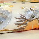 花輪に小鳥の刺繍帯 質感・風合