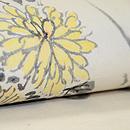 菊と萩墨絵の名古屋帯 質感・風合