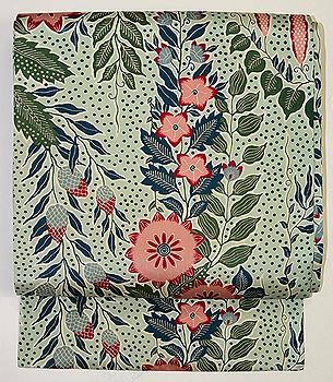 絹更紗蔦花の名古屋帯