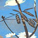 青地小鳥の図織名古屋帯 質感・風合