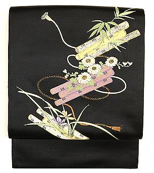 花筏の刺繍名古屋帯