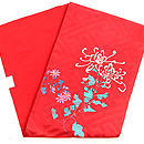 赤地乱菊の刺繍名古屋帯 帯裏