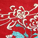 赤地乱菊の刺繍名古屋帯 質感・風合