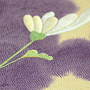 菊の刺繍の名古屋帯 質感・風合