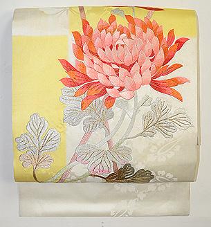 大輪菊の刺繍帯