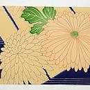 青地源氏香に菊と楓の名古屋帯 前中心