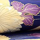 青地源氏香に菊と楓の名古屋帯 質感・風合