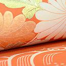 蘆野水辺模様小袖うつし染名古屋帯 質感・風合