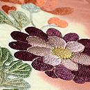 雲取りに菊花刺繍開き名古屋帯 質感・風合