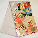 青海波に百花熨斗刺繍綴織袋帯 帯裏
