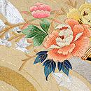 青海波に百花熨斗刺繍綴織袋帯 前中心