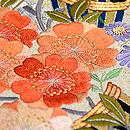 青海波に百花熨斗刺繍綴織袋帯 質感・風合