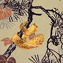 森の栗鼠刺繍名古屋帯 質感・風合