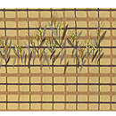 雀に弘法麦の刺繍名古屋帯 前中心