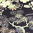 黒地檜垣に庭園の図名古屋帯 質感・風合