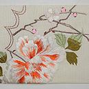 桜に菊の刺繍名古屋帯 前中心