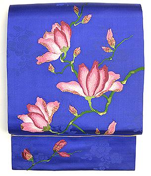 モクレンの刺繍名古屋帯