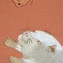 蝶々に子犬の刺繍帯 質感・風合