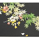 桜楓刺繍塩瀬名古屋帯 前中心