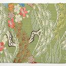 松に梅、極楽鳥の江戸裂名古屋帯 前中心