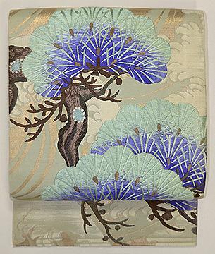 松の刺繍丸帯崩し名古屋帯