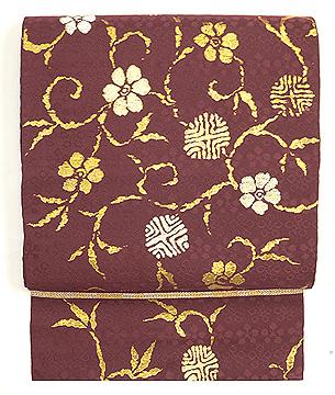 笹蔓紋袋帯