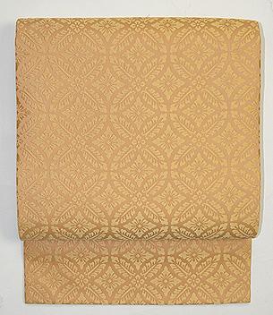 喜多川平朗作 花菱に四つ藤の丸紋唐織の名古屋帯