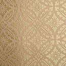 喜多川平朗作 花菱に四つ藤の丸紋唐織の名古屋帯 質感・風合