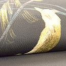 狐のお月見刺繍名古屋帯 質感・風合