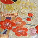 葵花束可憐刺繍名古屋帯 質感・風合