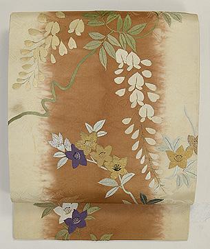 藤に桔梗刺繍名古屋帯