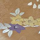 藤に桔梗刺繍名古屋帯 質感・風合