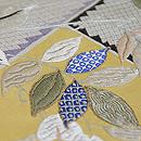 枝垂れ藤に蝶々の図開き名古屋帯 質感・風合