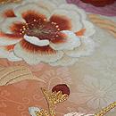 臙脂ぼかし牡丹の図刺繍名古屋帯 質感・風合