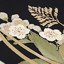 竹かごに春の盛り合わせ名古屋帯 質感・風合