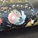 丸紋のリボン刺繍切り継ぎ帯 質感・風合