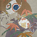 笹に印籠刺繍袋帯 質感・風合