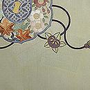 古鏡の図刺繍帯 前中心