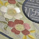 古鏡の図刺繍帯 質感・風合