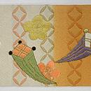 松に宝珠文刺繍名古屋帯 前中心
