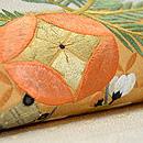松に宝珠文刺繍名古屋帯 質感・風合