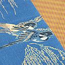 柳にスズメと縞の名古屋帯 質感・風合
