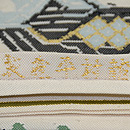 龍村平蔵製 甲比丹孔雀 織り出し