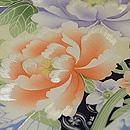 扇面に牡丹と春の花々染名古屋帯 質感・風合