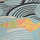 海賦模様絽織名古屋帯 質感・風合
