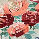 アールデコ薔薇刺繍名古屋帯 質感・風合