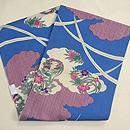 雲取りに花の丸絹紅梅織染名古屋帯 帯裏