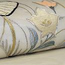 流水に団扇地紙刺繍紗開き名古屋帯 質感・風合