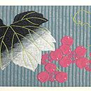 夏の果物にコオロギ刺繍名古屋帯 前中心