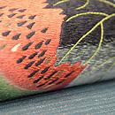 夏の果物にコオロギ刺繍名古屋帯 質感・風合
